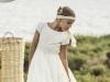 Rubio Kids Comunión 2016: niña modelo blanco cuerpo bordado