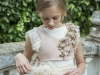 Rubio Kids Comunión 2017: niñas vestido con chaleco de punto