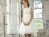 Rubio Kids Comunión 2017: niñas vestido con cuerpo de rosas corto