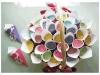 Saquitos de arroz para bodas: cucuruchos de colores
