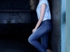 Sara Carbonero campaña Salsa Push Up Wonder Jeans: perfil pared