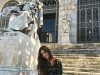 Sara Carbonero disfrutando de Madrid: Biblioteca Nacional