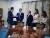 Sara Carbonero look en la Moncloa: en el acto con Mariano Rajoy e Iker Casillas