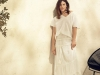 Tallas grandes mujer primavera verano 2016: falda larga con top blanco