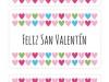 Tarjetas de San Valentín: De colores