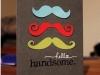 Tarjetas para el día del padre: en forma de bigotes
