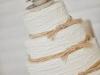 Tartas de boda personalizadas: blanca y beige