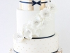 Tartas de boda personalizadas: blanca y dorada