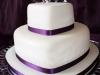 Tartas de boda personalizadas: blanca y morada