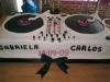 Tartas de boda personalizadas: mesa DJ