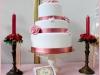 Tartas de boda personalizadas: rosa y blanca