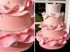 Tartas de boda personalizadas: rosa