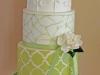Tartas de boda personalizadas: verde y blanca