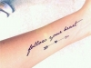 Tatuajes de frases: antebrazo interior