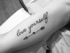Tatuajes de frases: antebrazo
