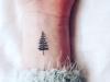 Tatuajes de Navidad: abeto