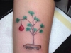 Tatuajes de Navidad: árbol bola