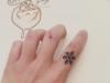 Tatuajes de Navidad: estrella de nieve