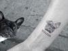 Tatuajes mascotas: perro cara real