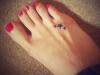 Tatuajes mini y chic: estrella pie