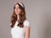 Tocados y diademas para novias 2018 Mibúh: modelo rosa con lazo