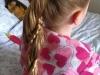 Trenzas para niñas: peinado con coleta