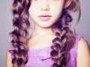 Trenzas para niñas: peinado con dos trenzas