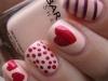 Uñas decoradas San Valentín: Rojos y rosas