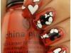 Uñas decoradas San Valentín: corazones y Mickey