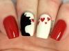 Uñas decoradas San Valentín: corazones y besos