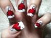Uñas Navidad decoradas: Gorritos de Santa