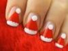 Uñas Navidad decoradas: Gorros de Papá Noel