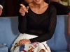 Velvet looks rueda de prensa 3ª temporada: Paula Echevarría sentada