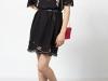 Vestidos con flores bordadas: Intropia negro