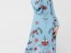 Vestidos con flores bordadas: Mango azul