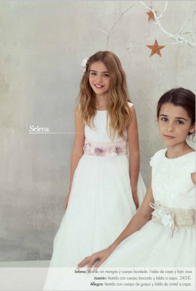 7b767c28a Vestidos de Comunión El Corte Inglés 2016: modelo Selena y Jazmín. Vestidos  de Comunión El Corte Inglés 2016: modelo Selena y Jazmín