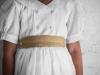 Vestidos de Comunión Navascués 2017: modelo Aldara detalle fajín