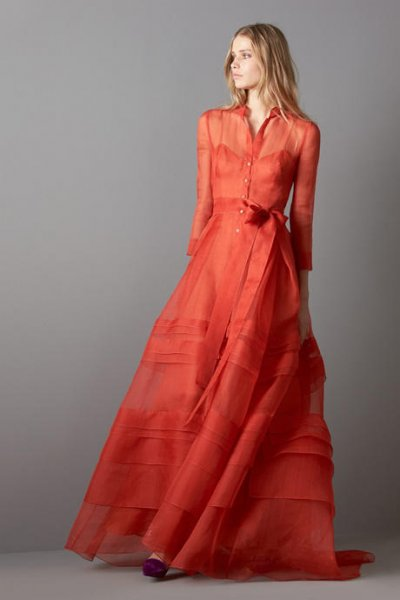 Modelos de vestidos de fiesta carolina herrera
