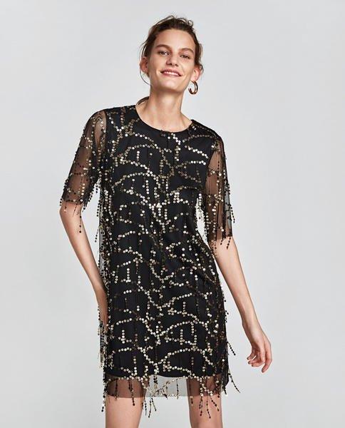 Vestidos de lentejuelas Zara 2017, ¡empieza a brillar para
