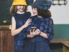 Vestidos de Navidad para niñas 2016: Rubio Kids azules con flores