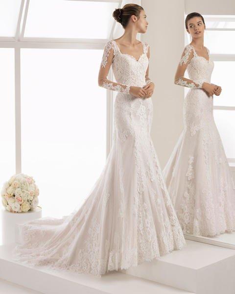 vestidos de novia aire barcelona 2018, una romántica colección