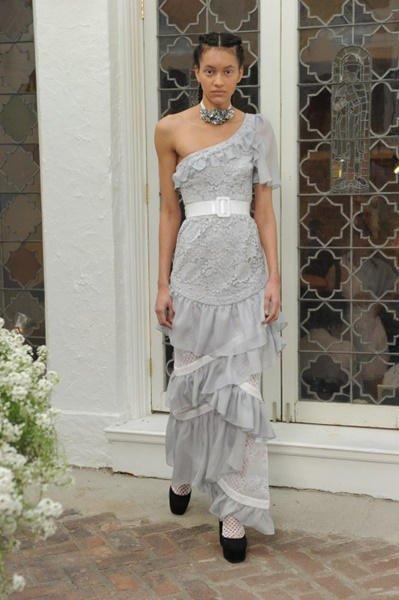 Vestidos de novia color pastel 2017: Houghton modelo Danica