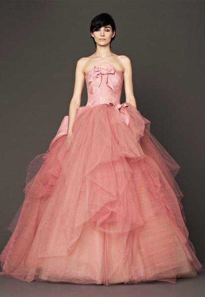 Vestidos de novia color pastel 2017: Vera Wang modelo Nora