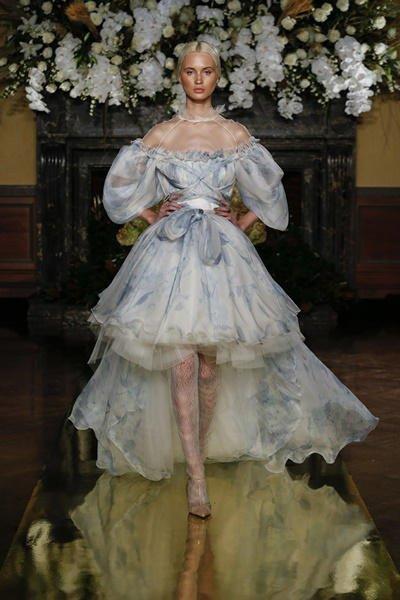 Vestidos de novia color pastel 2017: YolanCris modelo 1709
