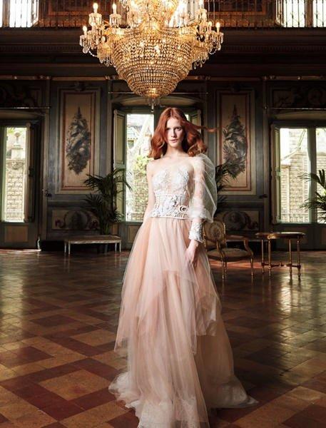 Vestidos de novia color pastel 2017: YolanCris modelo Galio