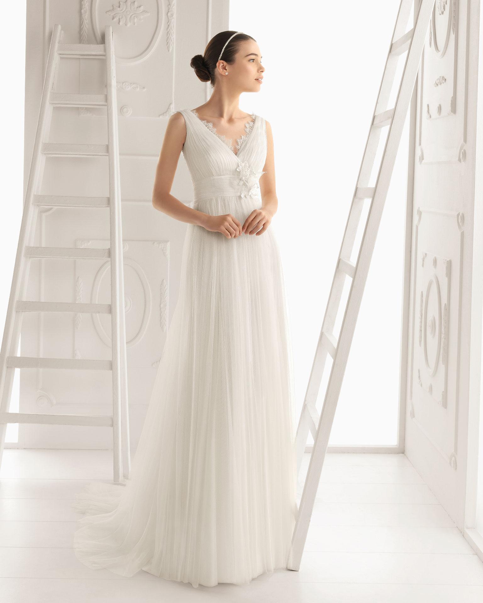 Vestido de novia corte medieval