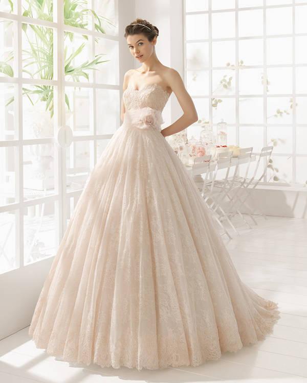 vestidos de novia de color rosa palo – vestidos baratos