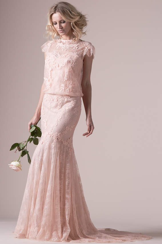 Vestidos de novia de colores Cymbeline modelo Iphigenie. Vestidos de novia de colores Cymbeline modelo Iphigenie