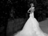 Vestidos de novia de cuento de hadas: corte sirena con cola larga