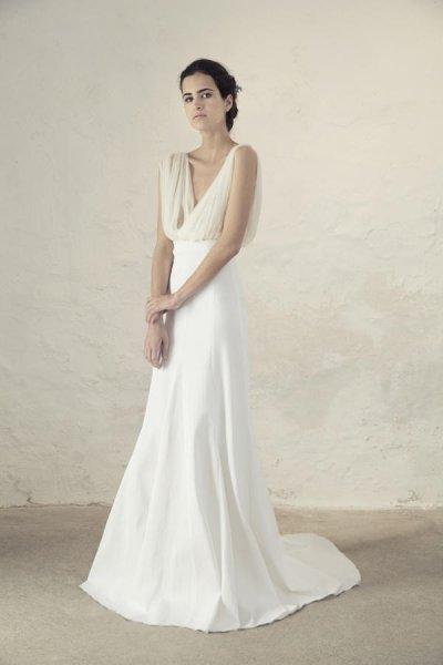 Vestido novia dos piezas top